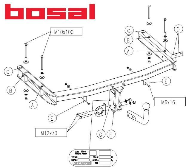 Фаркоп Bosal 9010-А
